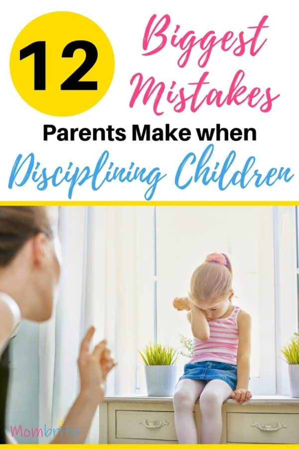 Disciplining Children Mistakes