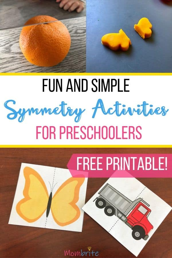 Your kids may amaze you with what they can comprehend. Try these symmetry activities with your preschoolers and watch their eyes light up as they start to grasp the concept of symmetry! #mombrite #mathactivities #preschoolers