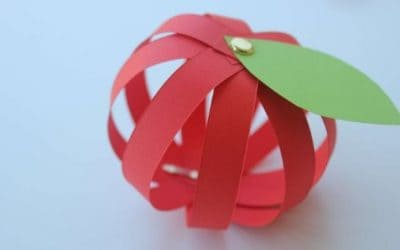 Easy 3D Paper Apple Craft for Kids