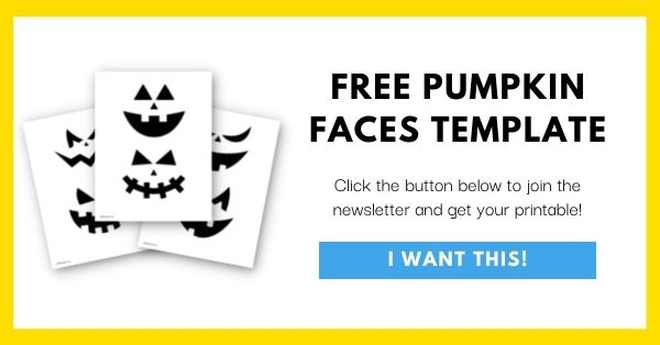 Pumpkin Faces Template Email List Opt-In