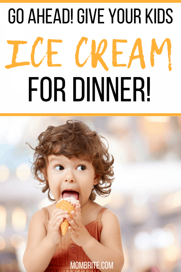 With this healthy banana ice cream recipe, you will feel good about feeding your kids ice cream for dinner! #mombrite #pickyeaters #bananaicecream