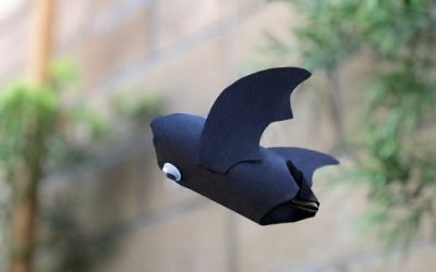 Easy Flying Paper Tube Bat Craft