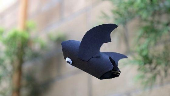 Easy Flying Paper Tube Bat Craft