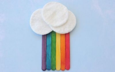 Easy Popsicle Sticks Rainbow Craft