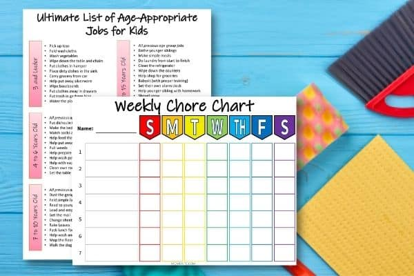 Printable Weekly Chore Chart for Kids