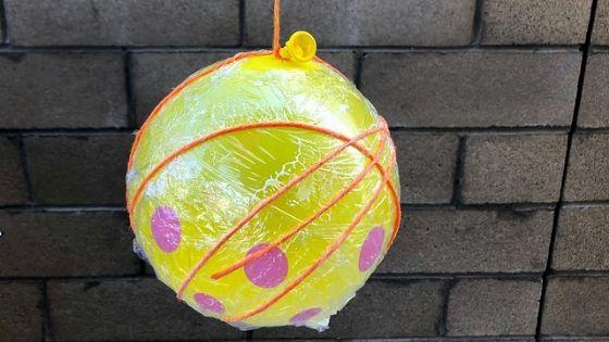 Yarn Pumpkin Balloon Tie Balloon1
