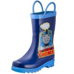 Thomas The Tank Engine Kids Boys' Character Printed Waterproof Easy-On Rubber Rain Boots