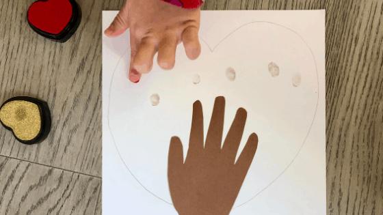 Make Handprint Heart