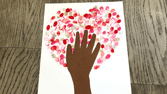 Erase Pencil Outline on Fingerprint Heart