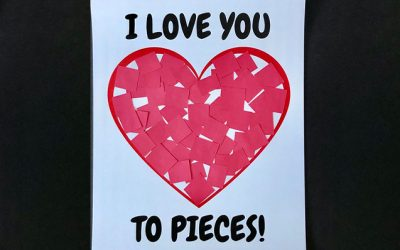 I Love You to Pieces: Valentine's Day Craft [Free Printable]