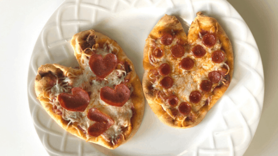 Valentine's Day Naan Bread Pizza