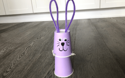 Jumping Bunny Cup Activity (Easter and Spring Craft)