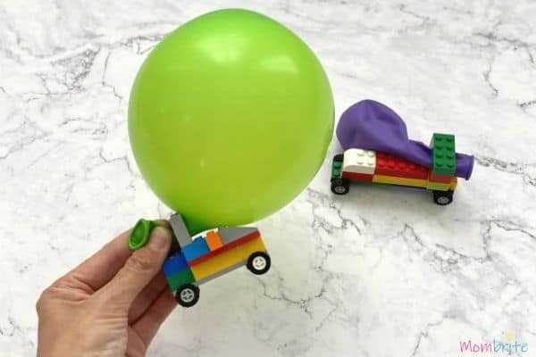 Balloon-Powered LEGO Cars Blow Up