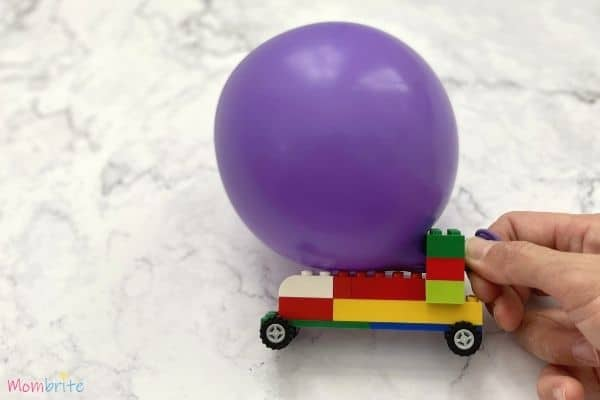 Balloon-Powered LEGO Cars Start