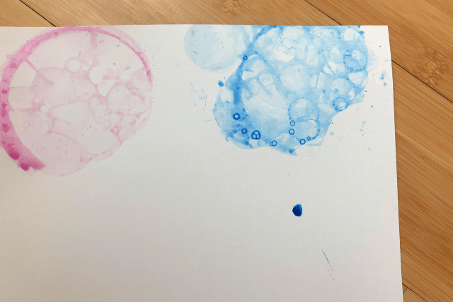Bubble Painting On Paper