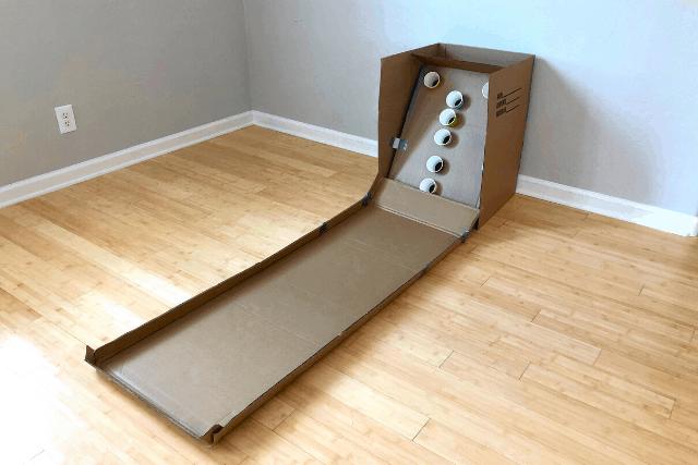 Cardboard Skee Ball Game 7