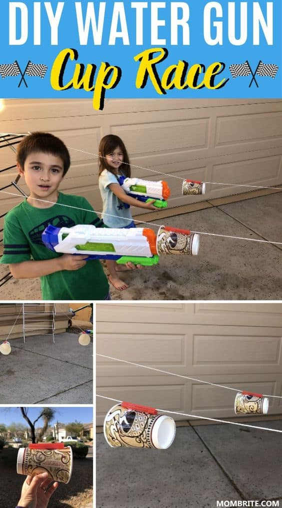 DIY Water Gun Cup Race
