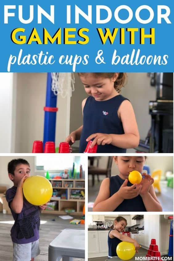 Fun Indoor Games with Plastic Cups and Balloons