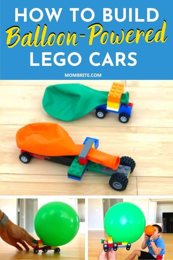 Balloon-Powered LEGO Cars Pin