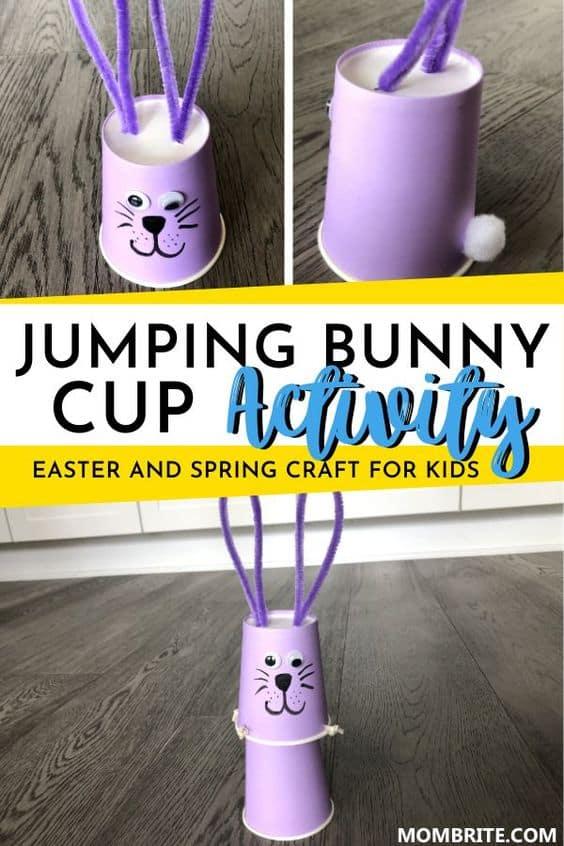 Jumping Bunny Cup Activity Pin