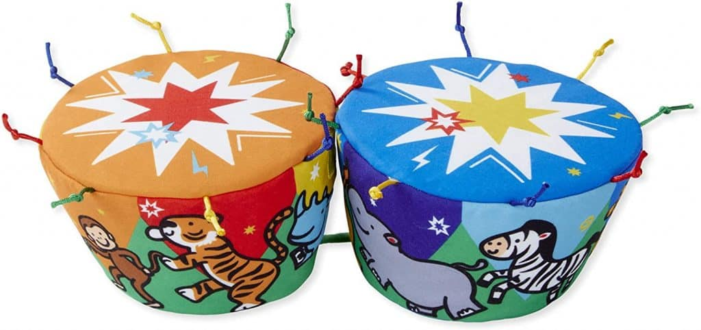Melissa Doug Ks Kids Bongo Drums Soft Musical Instrument