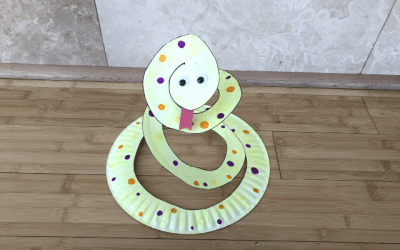 How to Make Paper Plate Snake Craft