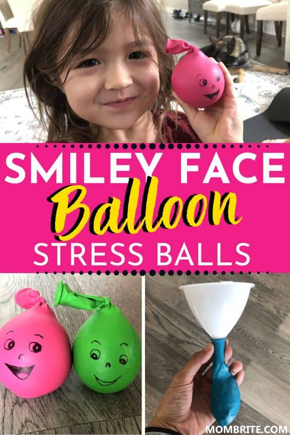 Smiley Face Balloon Stress Balls