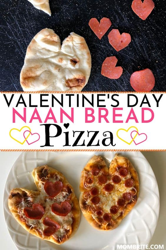 Naan Bread Pizza for Valentine's Day