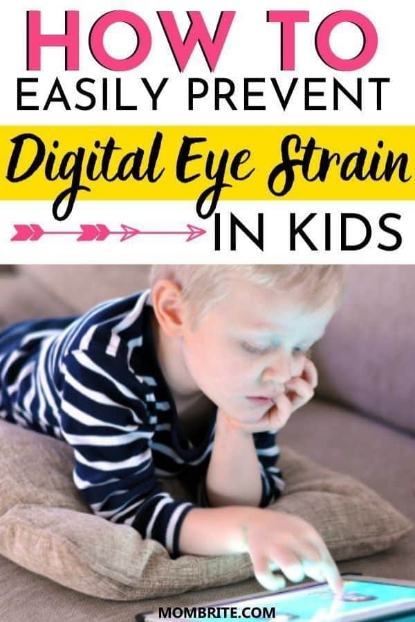 how to prevent digital eye strain in kids pin