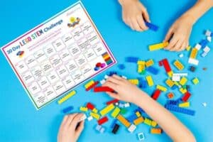 30 Day LEGO STEM Challenge Calendar Featured