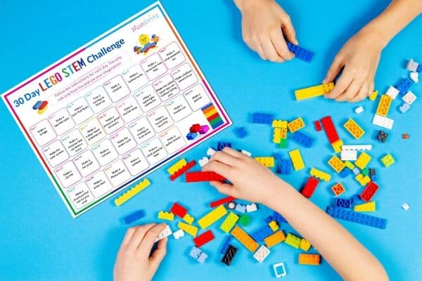 30 Day LEGO STEM Challenge Calendar Featured