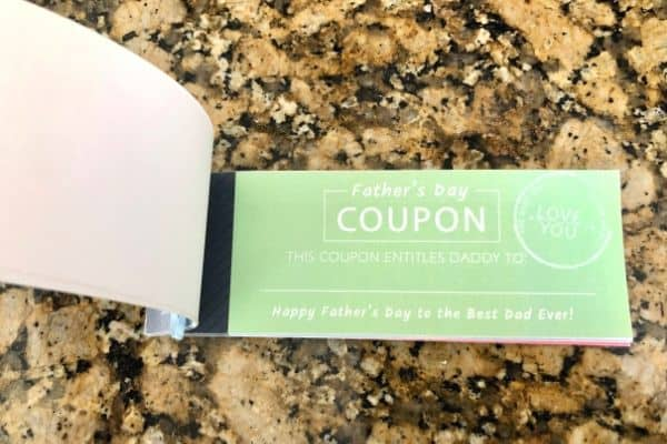 Fathers Day Coupon Book Page