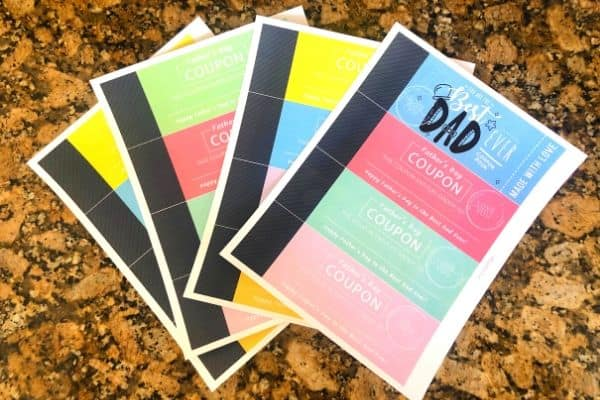 Father's Day Coupon Book Printable Pages