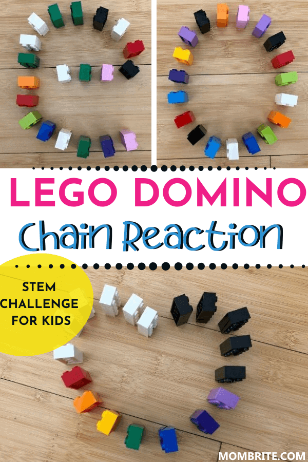LEGO Domino Chain Reaction Pin
