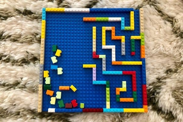 LEGO-Marble-Maze-In-Progress