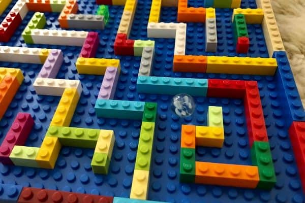 LEGO-Marble-Maze-Play