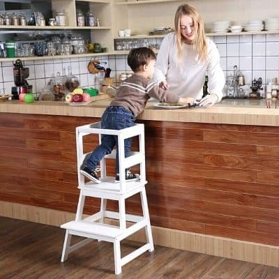 SDADI Kids Kitchen Step Stool with Safety Rail Product