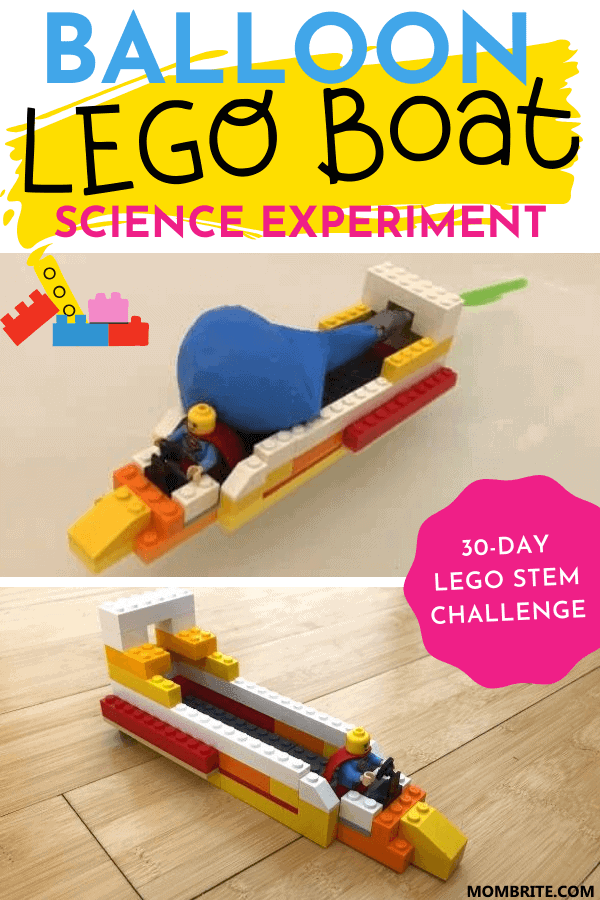 balloon lego boat science experiment pin