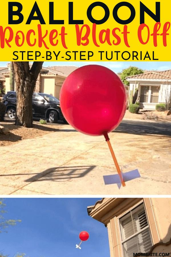 Balloon Rocket Blast Off Step-By-Step Tutorial