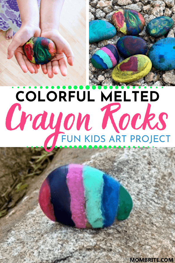 How to Make Beautiful Melted Crayon Rocks Pin