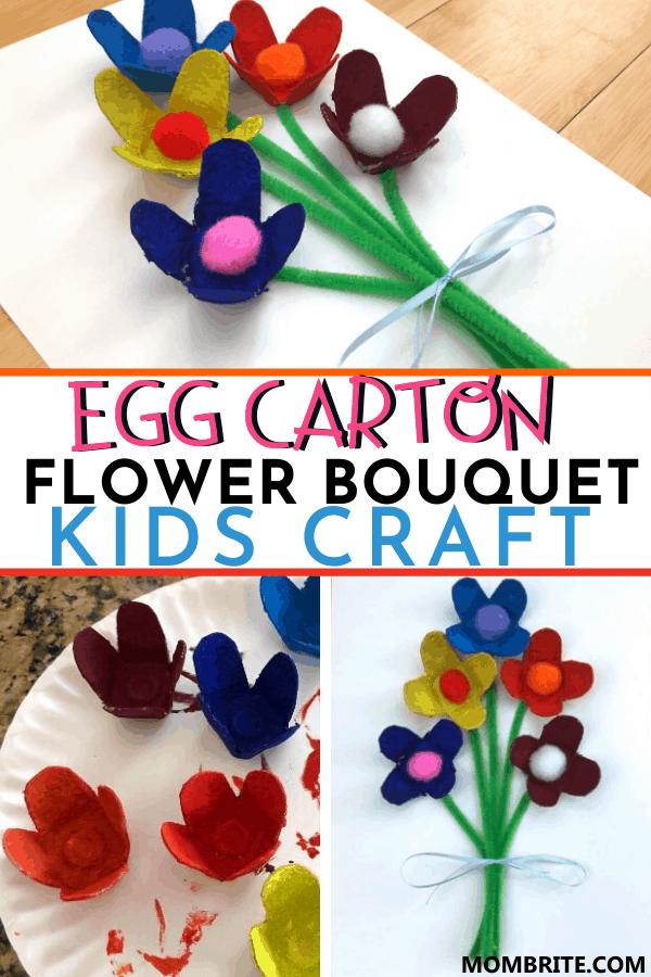 Egg-Carton-Flower-Bouquet-Kid-Craft