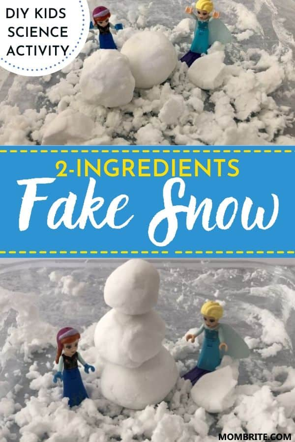 2 ingredients fake snow