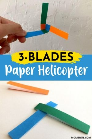 3 Blades Paper Helicopter Pin