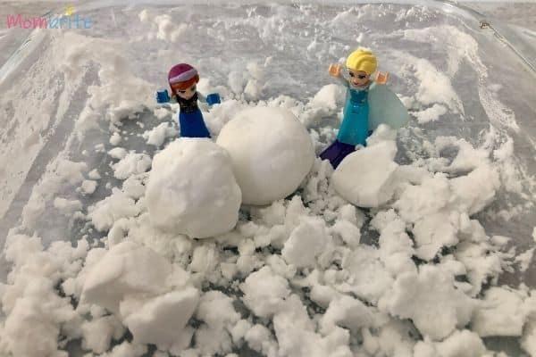 Baking Soda Snow Anna Elsa Fallen Snowman