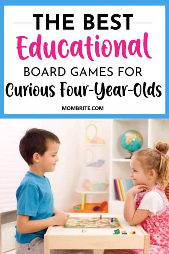 Best Board Games for Curious 4-Year Olds Pin