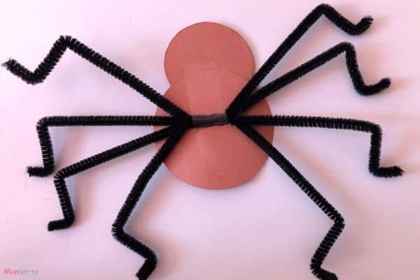 Tape Legs to Paper Spider