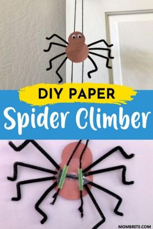 DIY Paper Spider Climber Pin