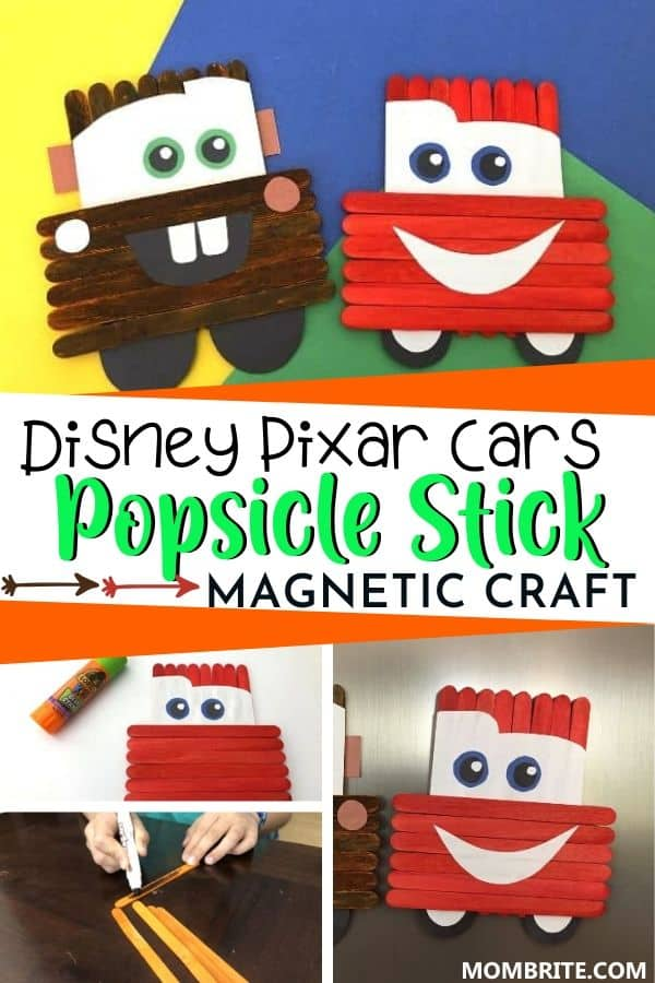 Disney Pixar Cars Popsicle Stick