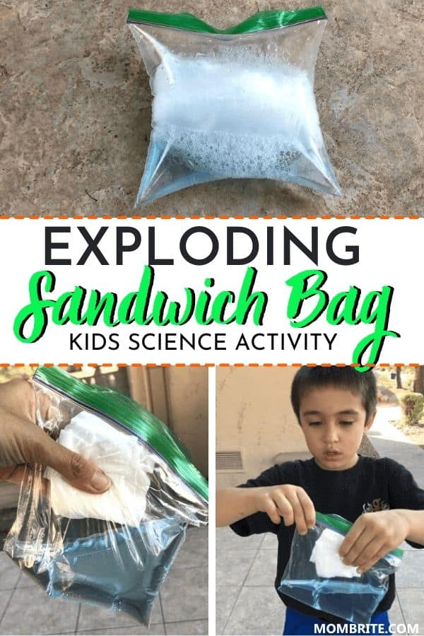 Exploding Sandwich Bag Kids Science Activity Pin