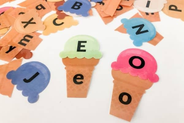 Ice Cream Alphabet Matching Game Example